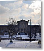 The Art Museum In The Snow Metal Print by Bill Cannon