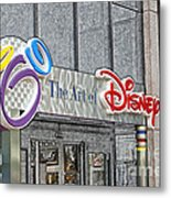 The Art Of Disney Signage Selective Coloring Digital Art Metal Print