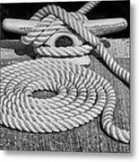 The Art Of Rope Lying Metal Print