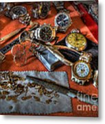 The Art Of The Timepiece - Watchmaker  Metal Print