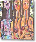 The Art Show Metal Print by Chaline Ouellet