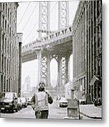 The Artist In New York Metal Print