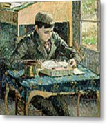 The Artists Son Metal Print by Camille Pissarro