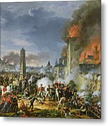 The Attack And Taking Of Ratisbon, 23rd April 1809, 1810 Oil On Canvas Metal Print