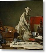 The Attributes Of The Arts And The Rewards Which Are Accorded Them Metal Print