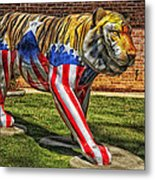 The Auburn Tiger Metal Print