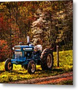 The Autumn Blues Metal Print