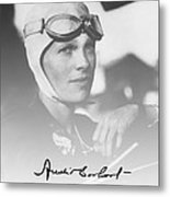The Aviatrix Metal Print
