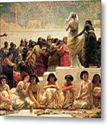 The Babylonian Marriage Market, 1875 Metal Print by Edwin Longsden Long