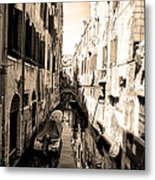 The Back Canals Of Venice Metal Print