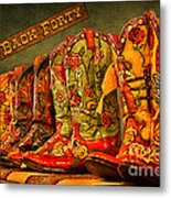 The Back Forty Boots Are Made For Dancin' Metal Print