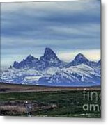 The Back Side Of The Tetons Metal Print