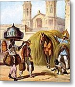 The Baker And The Straw Seller, 1840 Metal Print