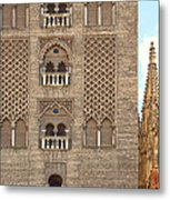 The Balconies Of Seville Cathedral Belfry Metal Print by Viacheslav Savitskiy