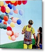The Balloon Man Metal Print by Michael Swanson