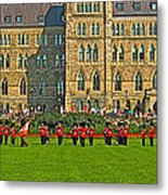 The Band Played On In Front Of Parliament Building In Ottawa-on Metal Print