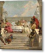 The Banquet Of Cleopatra Metal Print