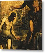The Baptism Of Christ Metal Print by Jacopo Robusti Tintoretto