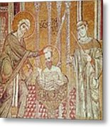 The Baptism Of St. Paul By Ananias, From Scenes From The Life Of St. Paul Mosaic Metal Print
