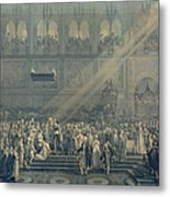 The Baptism Of The King Of Rome 1811-32 At Notre-dame, 10th June 1811, After 1811 Engraving Metal Print