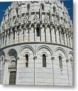 The Baptistery In Pisa  Metal Print