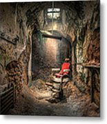 The Barber's Chair -the Demon Barber Metal Print