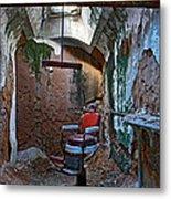 The Barbershop Chair Metal Print