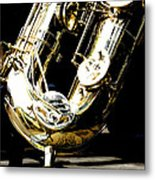 The Baritone Saxophone  Metal Print