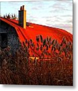 The Barn  At Sunset Metal Print