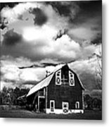 The Barn Before The Storm Metal Print