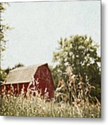 The Barn In The Distance Metal Print