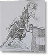 The Barrel Racer Metal Print