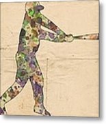 The Baseball Player Metal Print