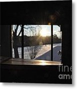The Basement Window Metal Print