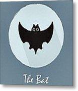 The Bat Cute Portrait Metal Print