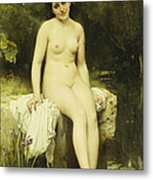 The Bather Metal Print by Leon Bazile Perrault