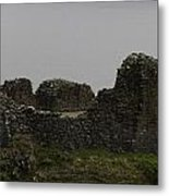 The Battered Remains Of The Urquhart Castle In Scotland Metal Print