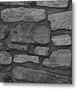 The Battery Wall In Black And White Metal Print