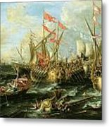 The Battle Of Actium 2 September 31 Bc Metal Print