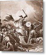 The Battle Of Hastings, Engraved Metal Print