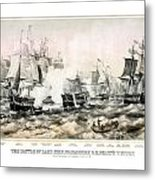 The Battle Of Lake Erie - 1878 Metal Print
