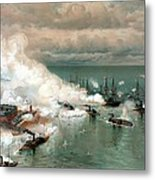 The Battle Of Mobile Bay Metal Print