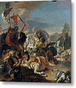 The Battle Of Vercellae Metal Print