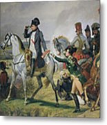 The Battle Of Wagram, 6th July 1809, 1836 Oil On Canvas Metal Print