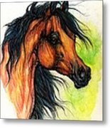 The Bay Arabian Horse 11 Metal Print