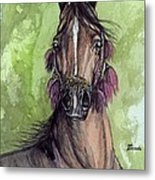 The Bay Arabian Horse 16 Metal Print