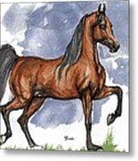 The Bay Arabian Horse 17 Metal Print