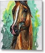 The Bay Arabian Horse 2 Metal Print