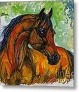 The Bay Arabian Horse 3 Metal Print