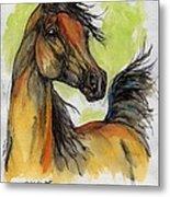 The Bay Arabian Horse 5 Metal Print